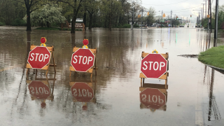 Parma flooding road closures