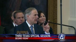 Third special legislative session starts Monday in Austin