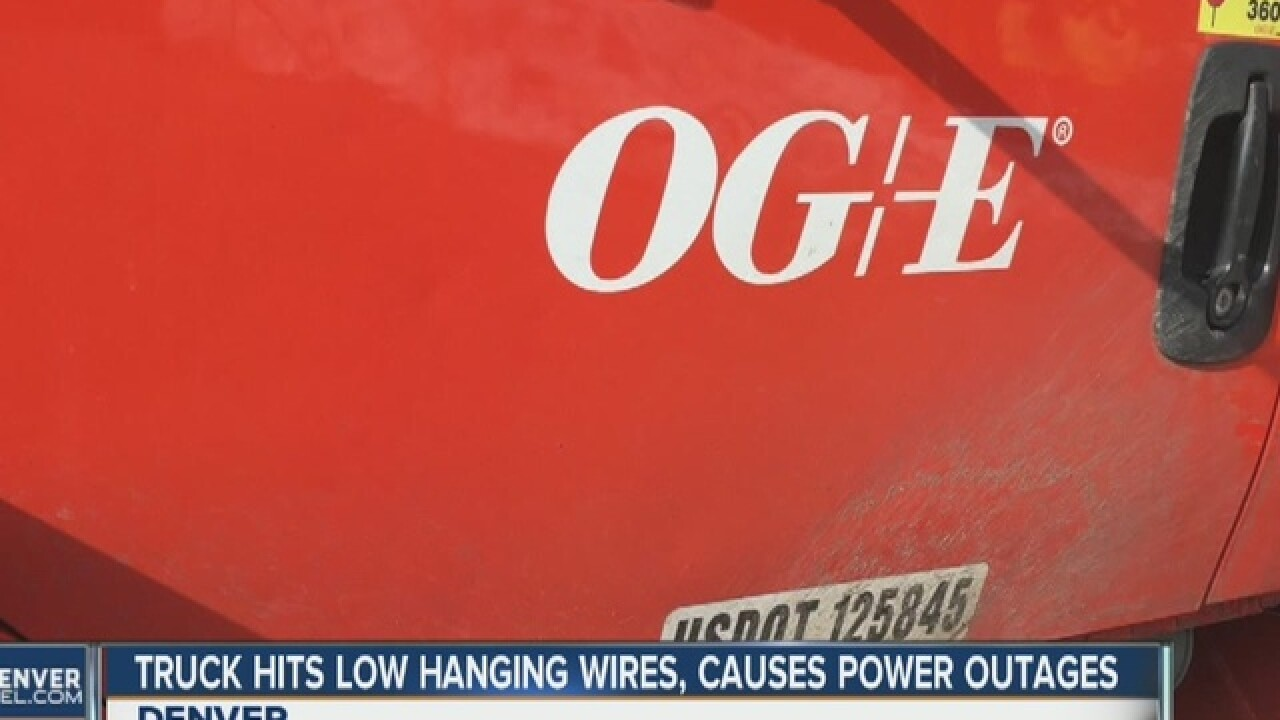 Oklahoma crew repairs damaged lines in Highlands