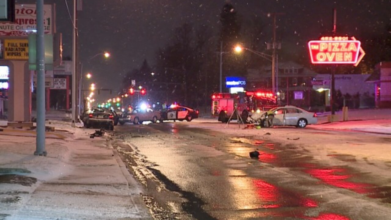 Deadly crash involving three cars in Canton