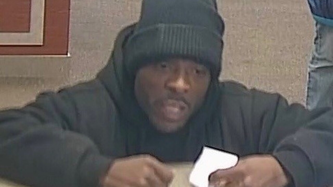 Lawrence police looking for bank robber