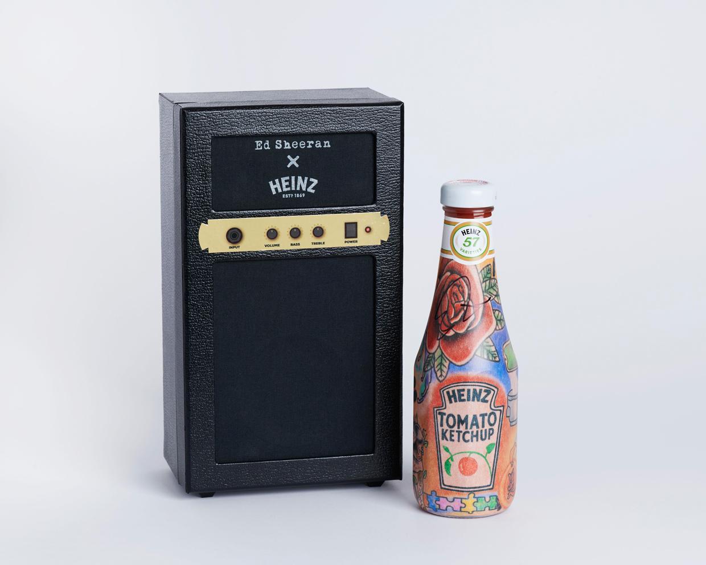 Sheeran Heinze ketchup bottle