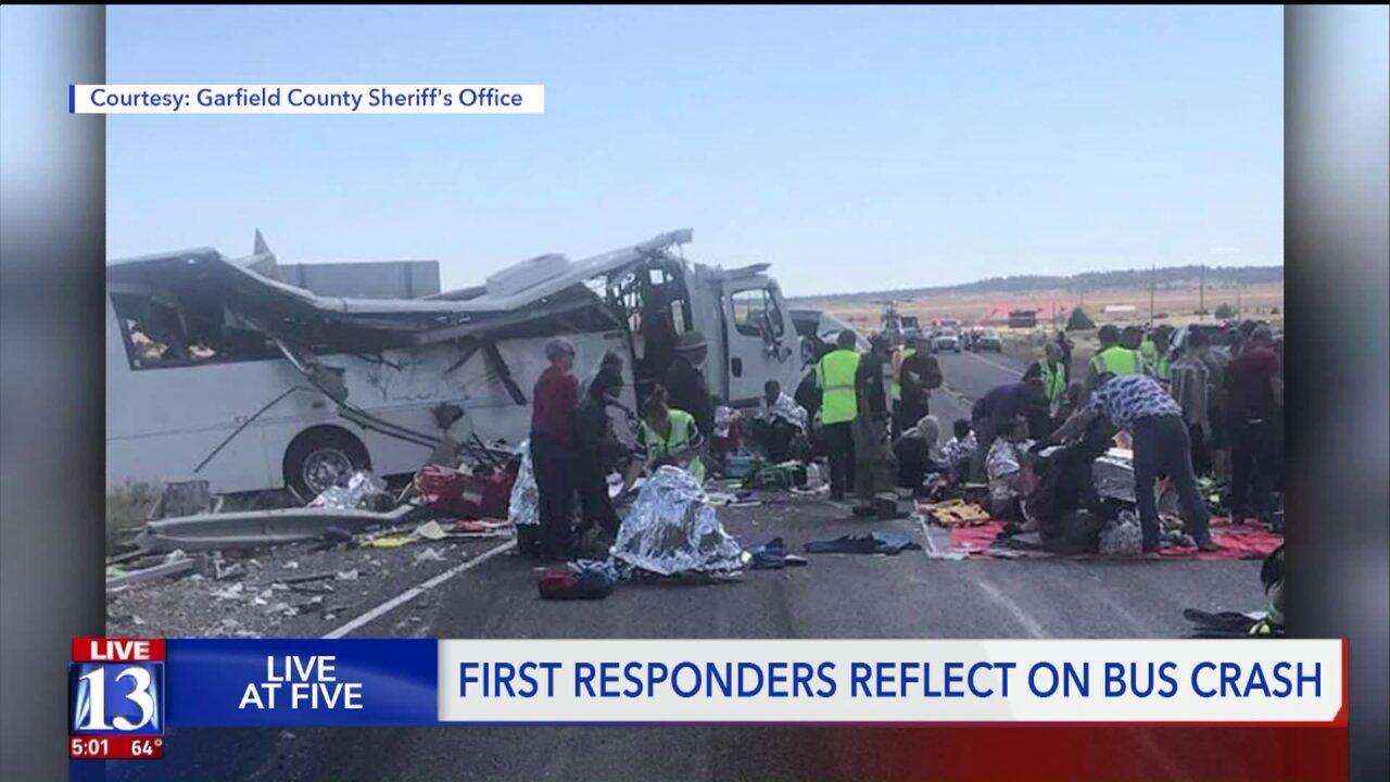 EMT recounts 'miracles' after fatal tour bus crash near BryceCanyon