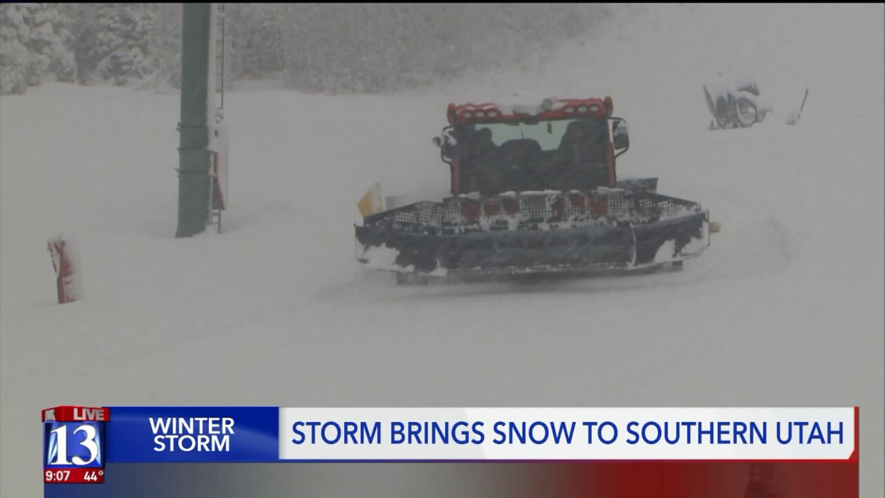 Fresh snowfall meets corduroy tracks as Brian Head Resort nears seasonopener