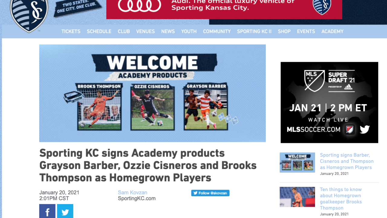 Sporting Kansas City homegrown players