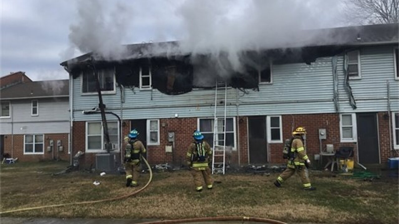 Ten people displaced after a fire in Annapolis Wednesday afternoon