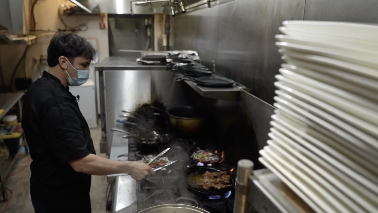 """Chef Hamidullah Noori is the owner of """"The Mantu,"""" a restaurant specializing in cuisine from Afghanistan in Richmond, Virginia. He arrived in the U.S. on a Special Immigrant Visa in 2015 and, after working six days a week in multiple jobs, was able to open his own restaurant."""