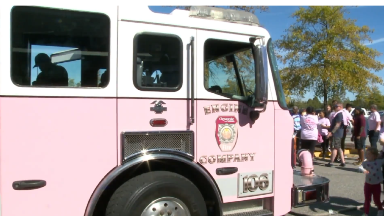 Money raised for breast cancer research at Chesapeake Sheriff's Office's 5th annual 'Pull ForPink'