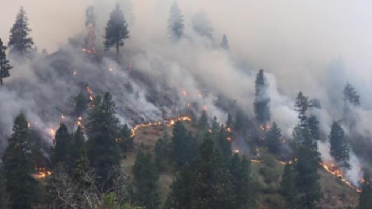 Rattlesnake Creek Fire now threatens homes, properties in Idaho County