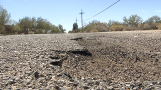 City of Tucson pothole in neighborhood