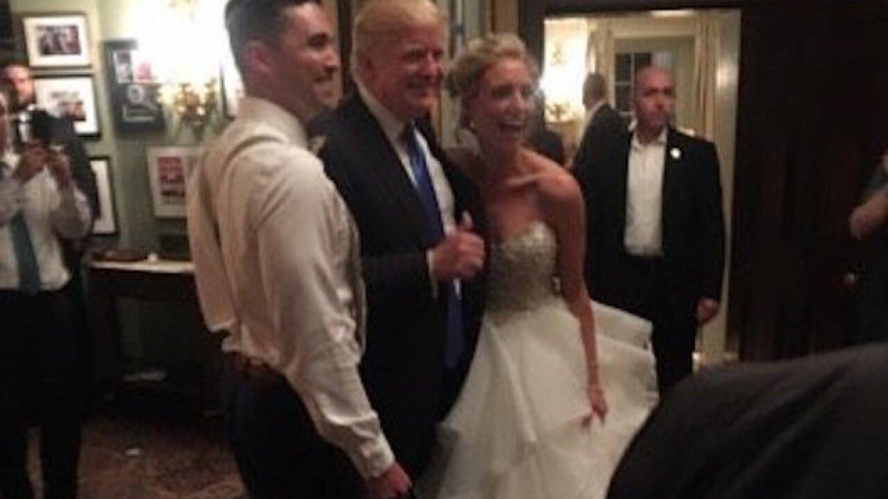 Trump Crashes Wedding.President Trump Crashes New Jersey Wedding