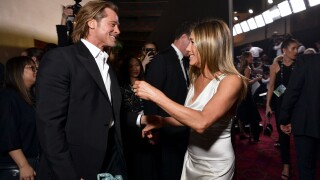 Pitt and Aniston reunite at SAG Awards, both win trophies