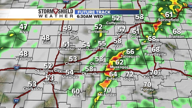 PHOTOS: When to expect severe storms to roll through northeastern Oklahoma Tuesday, Wednesday