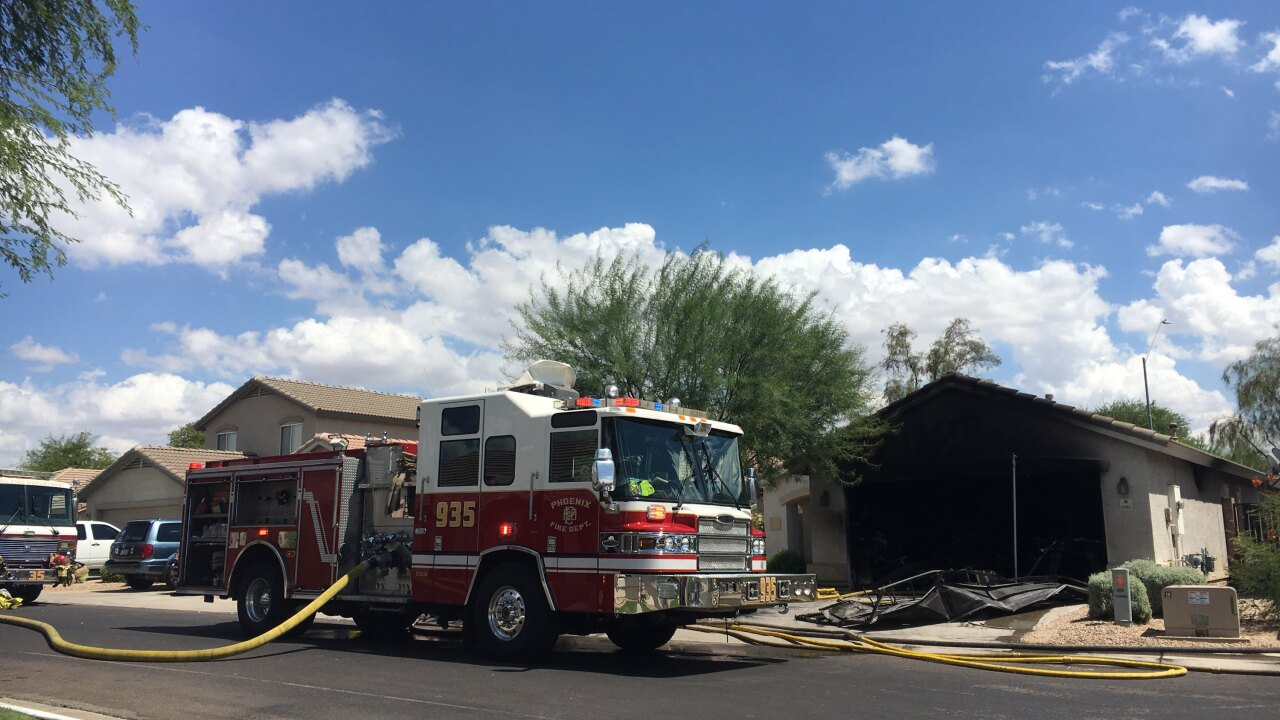 Firefighters rescue man from house fire in north Phoenix