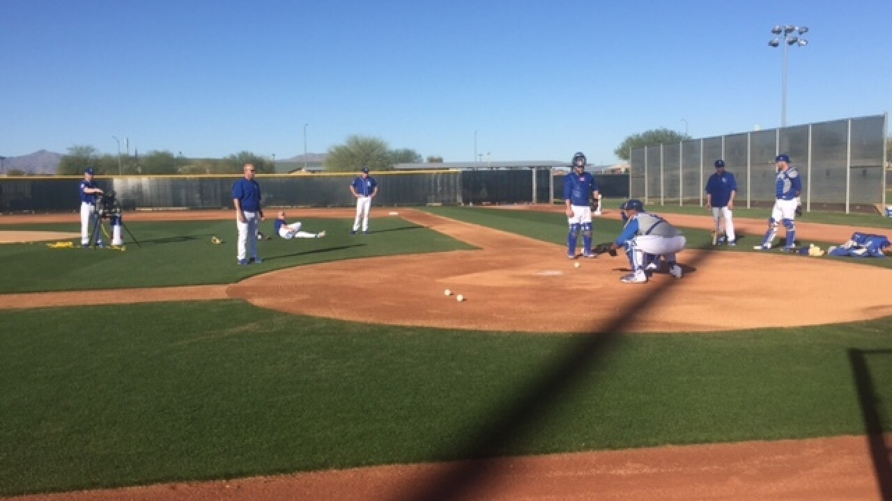 Royals hard at work on day 3 of spring training