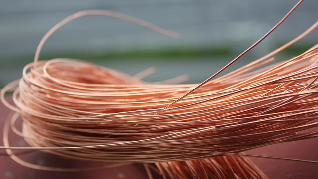 Nevada seeing a rise in copper wire theft