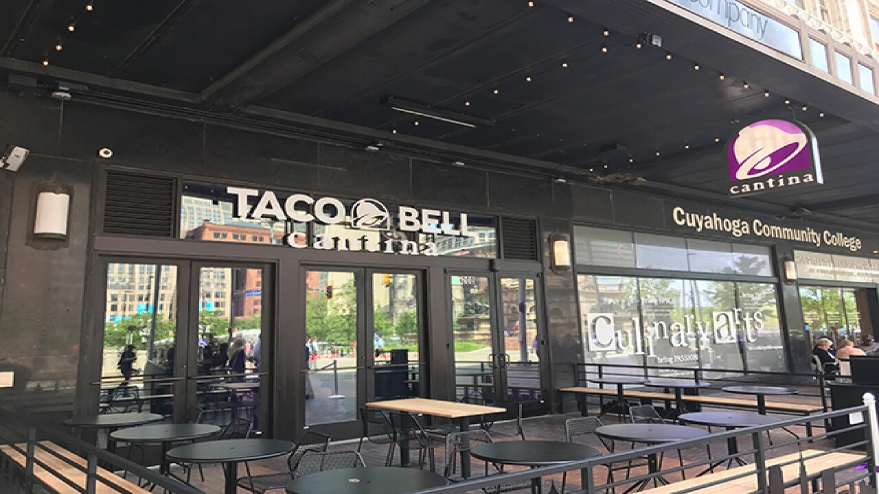Taco Bell Cantina Opens In Downtown Cleveland Adding To The