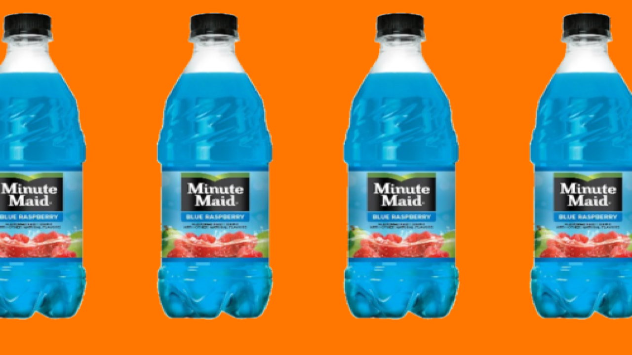 Minute Maid Now Comes In Blue Raspberry