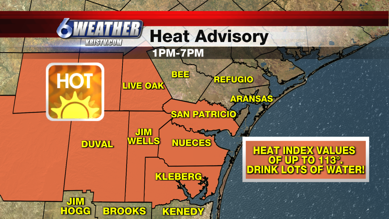 6WEATHER Heat Advisory 1-7PM