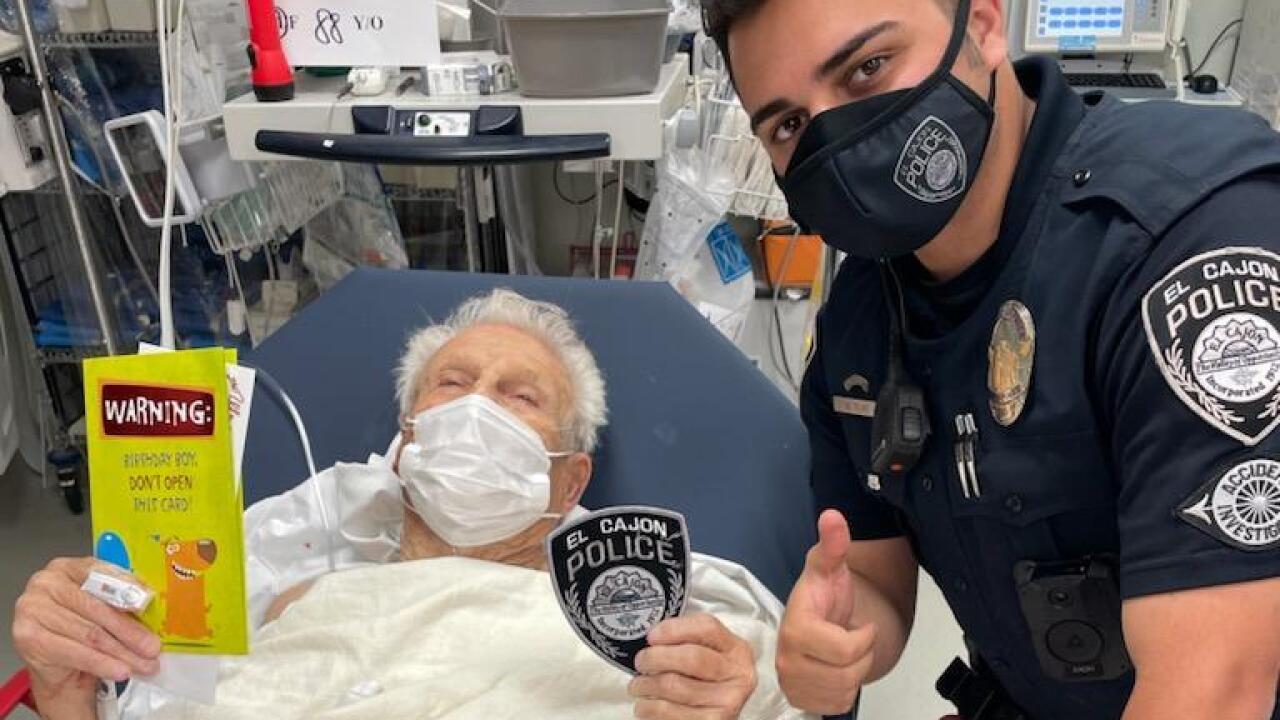 ECPD Officer helps crash victim celebrate birthday