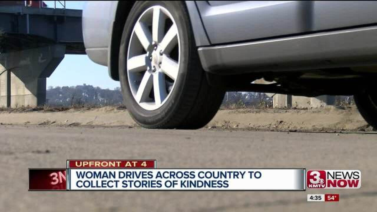 Woman drives across country to find good stories