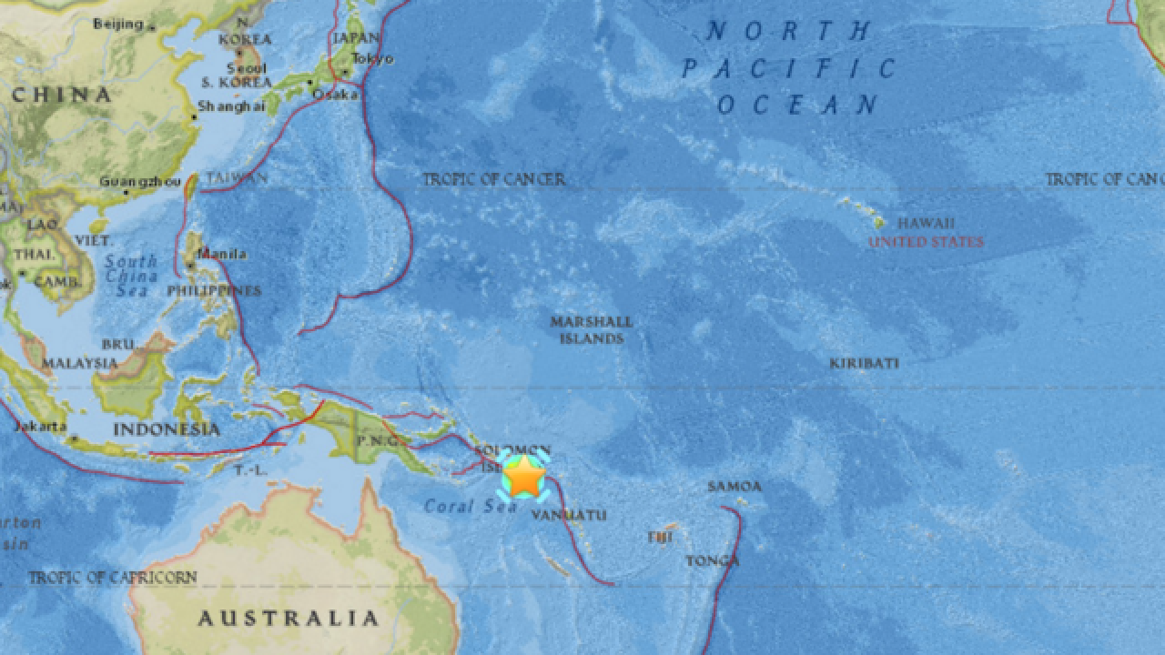 Magnitude 7.7 earthquake strikes South Pacific; US tsunami watches canceled