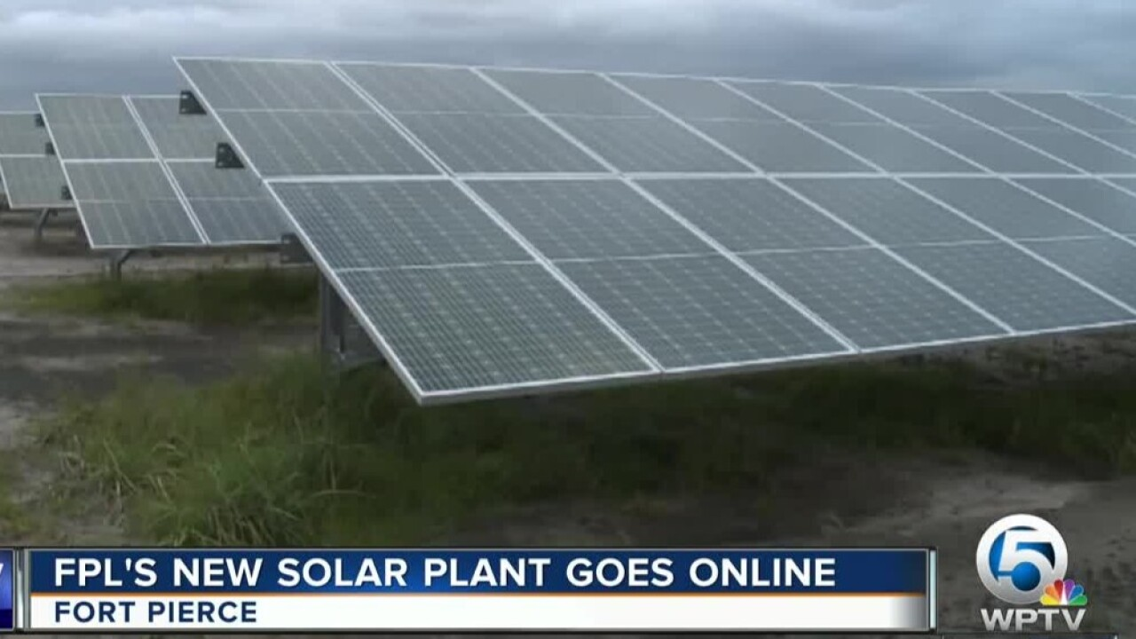FPL's solar power plant located in Fort Pierce