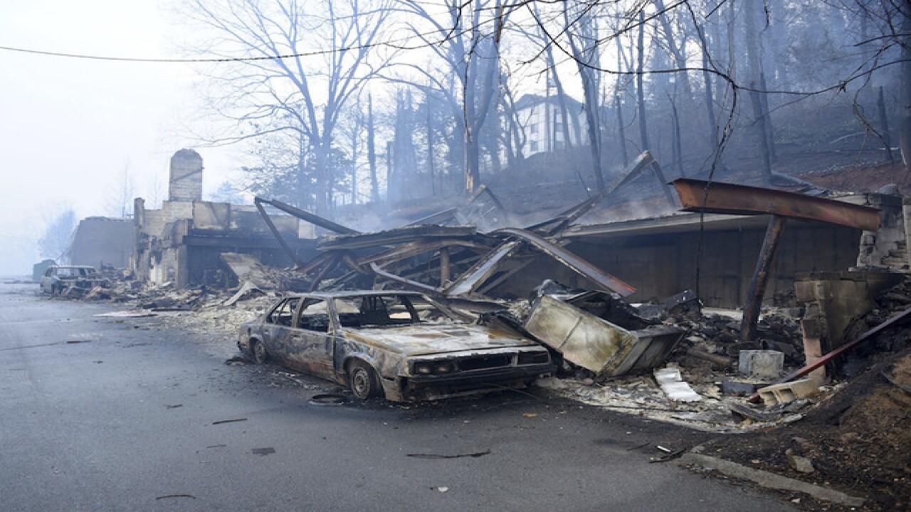 Photos: Wildfire in Gatlinburg, Tennessee