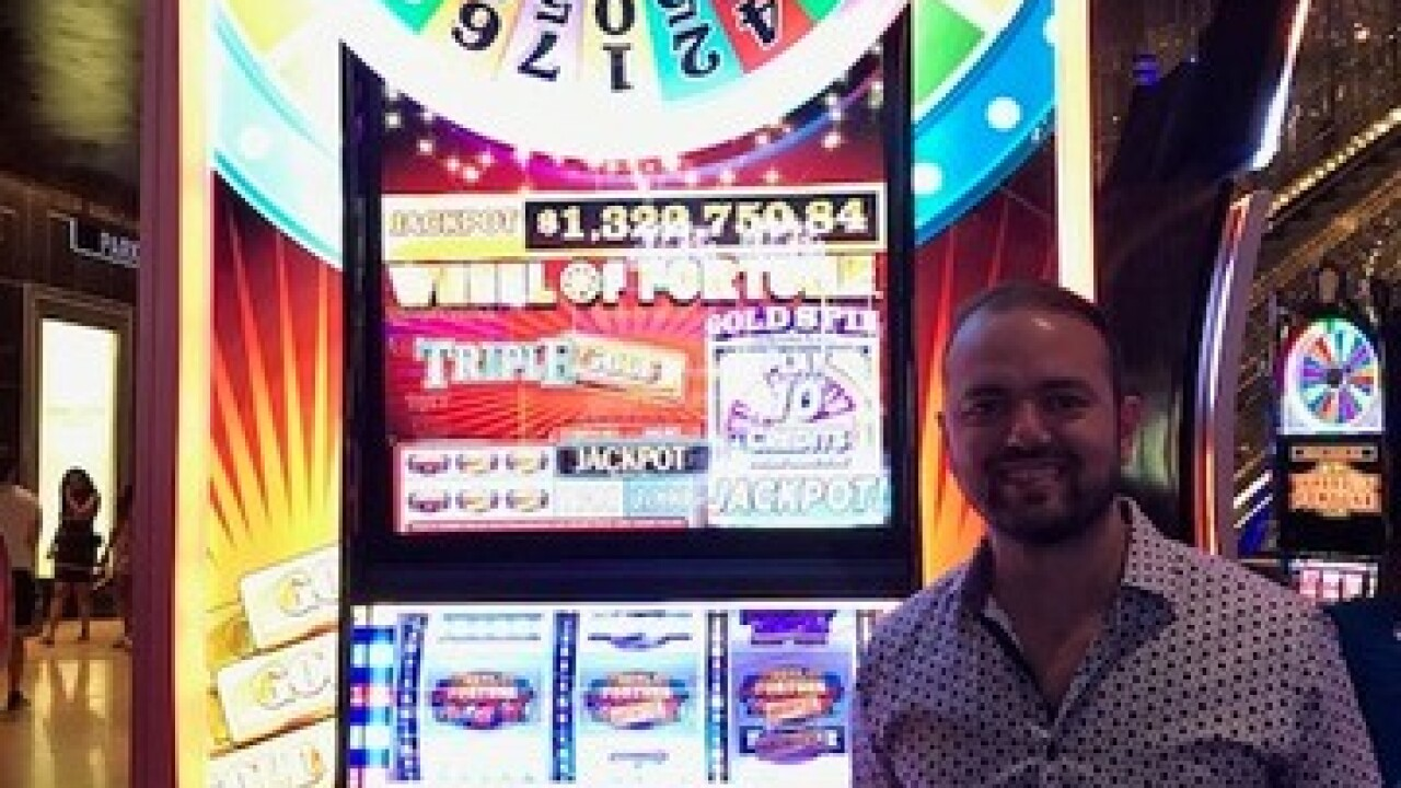 Canadian man wins $1.3 million on slot machine at Cosmopolitan of Las Vegas