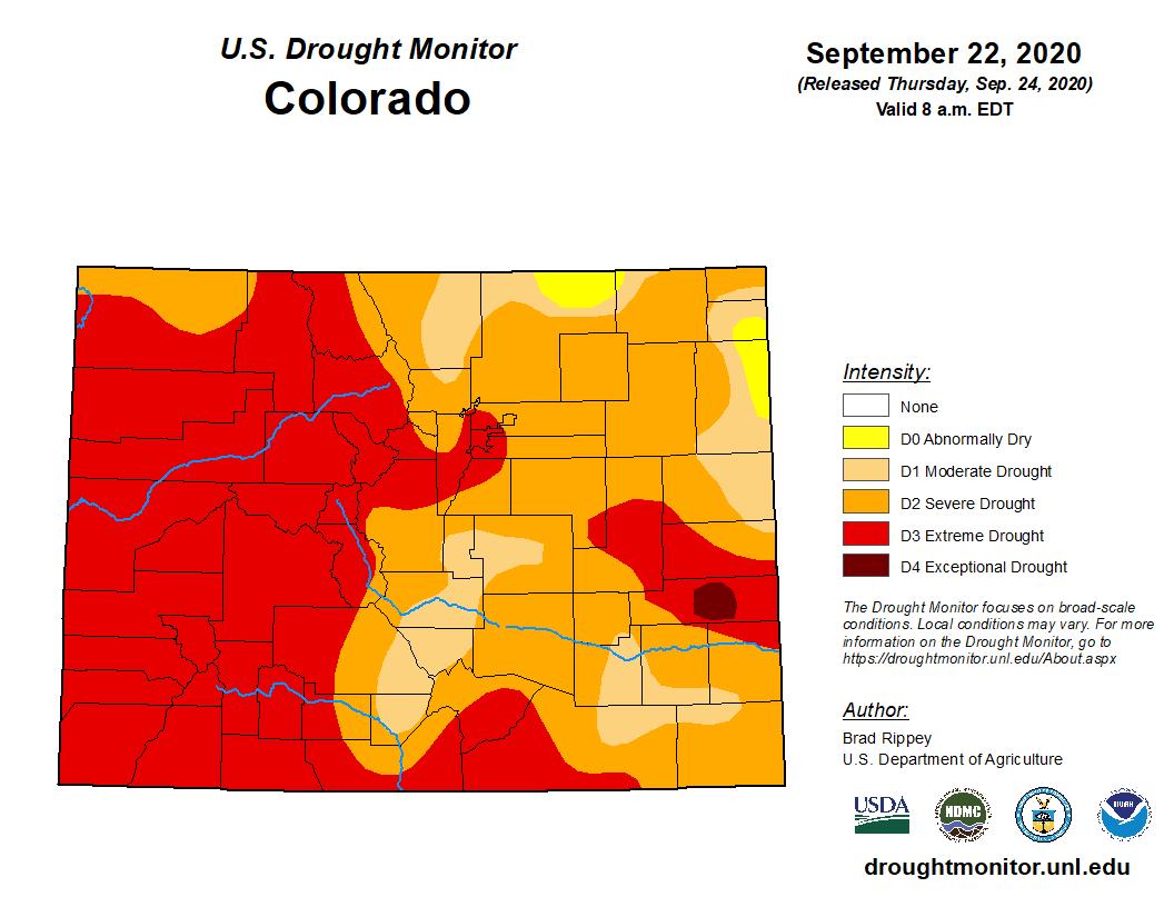 September 2020 drought monitor