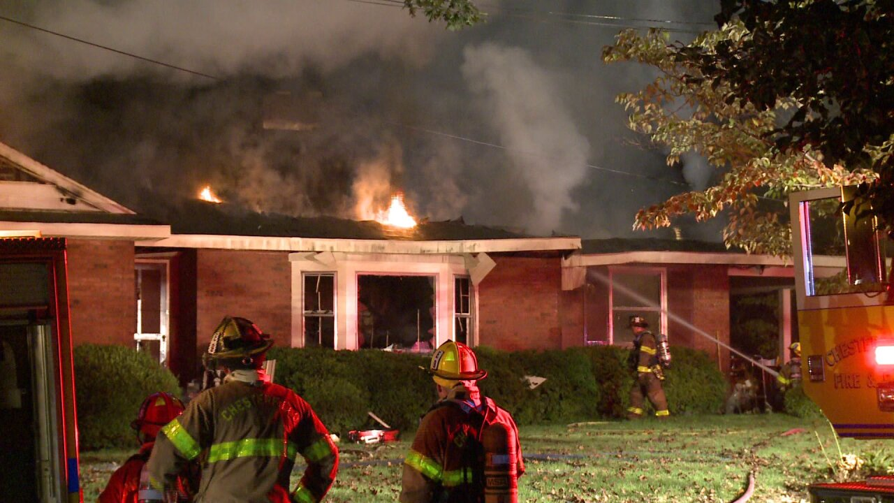 76-year-old dies after food left on stove sparks Chesterfield housefire