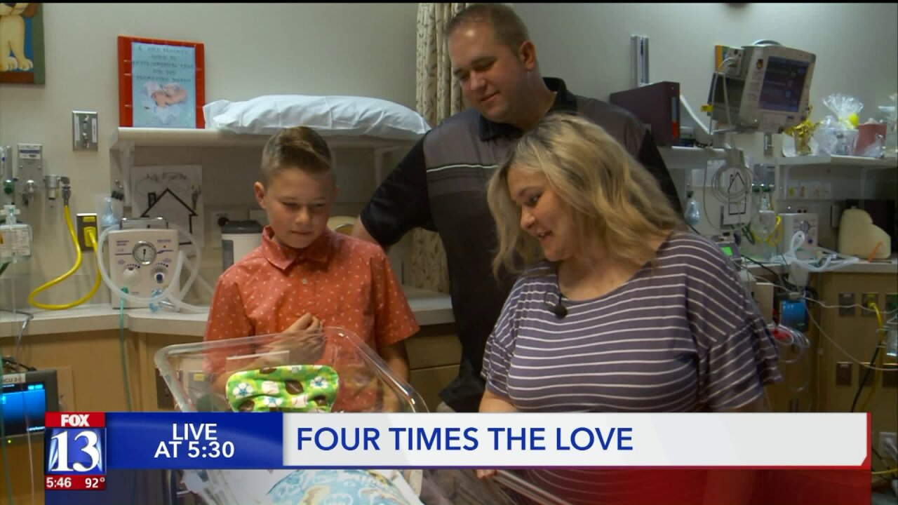 Family welcomes quadruplets into the world inOgden