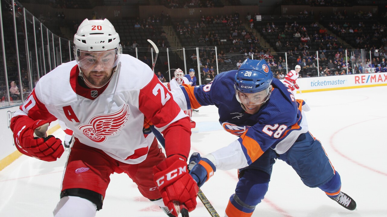Dylan_McIlrath_Detroit Red Wings v New York Islanders