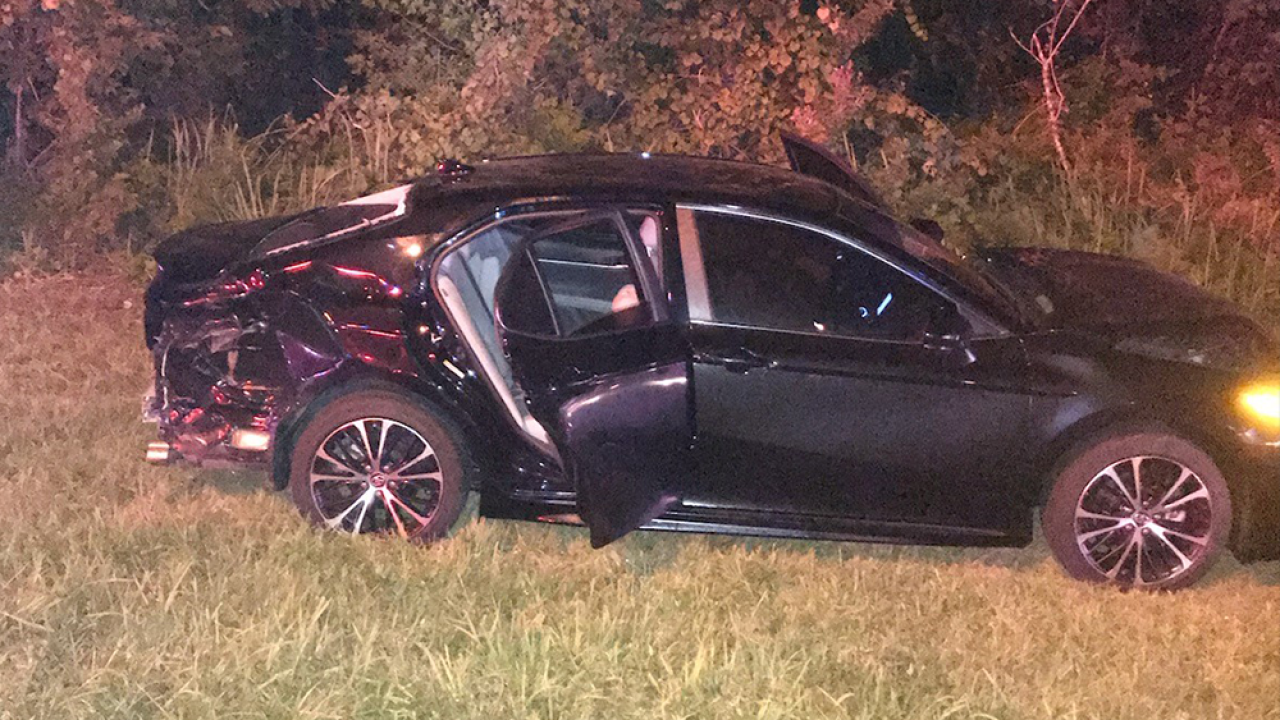 3 arrested after 2-county chase ends in crash, 4th suspect on the run