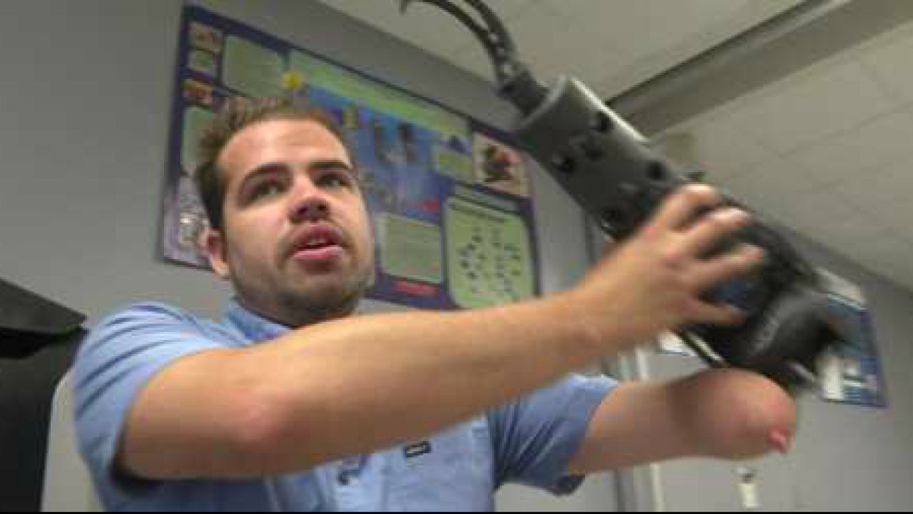 TCC student takes action to build his own arm