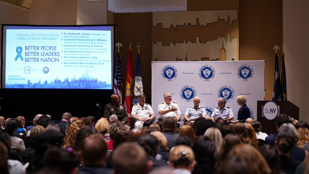 Military leaders team up with colleges and universities to combat sexualassault