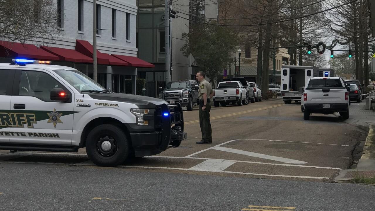 Downtown Lafayette police presence