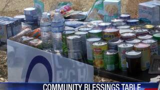 Portland residents create community blessing table