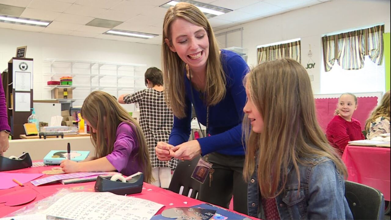 Kindness rocks at Mechanicsville ElementarySchool