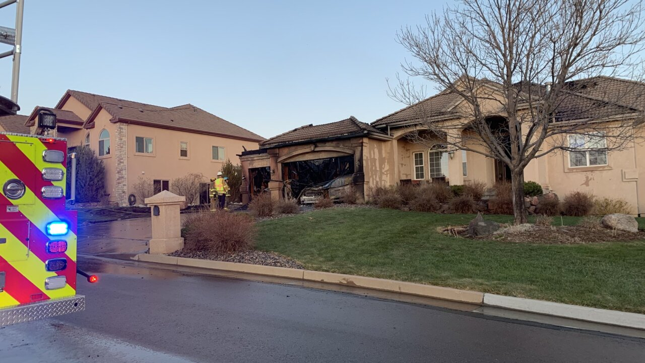 Colorado Springs Fire Department responds to house fire