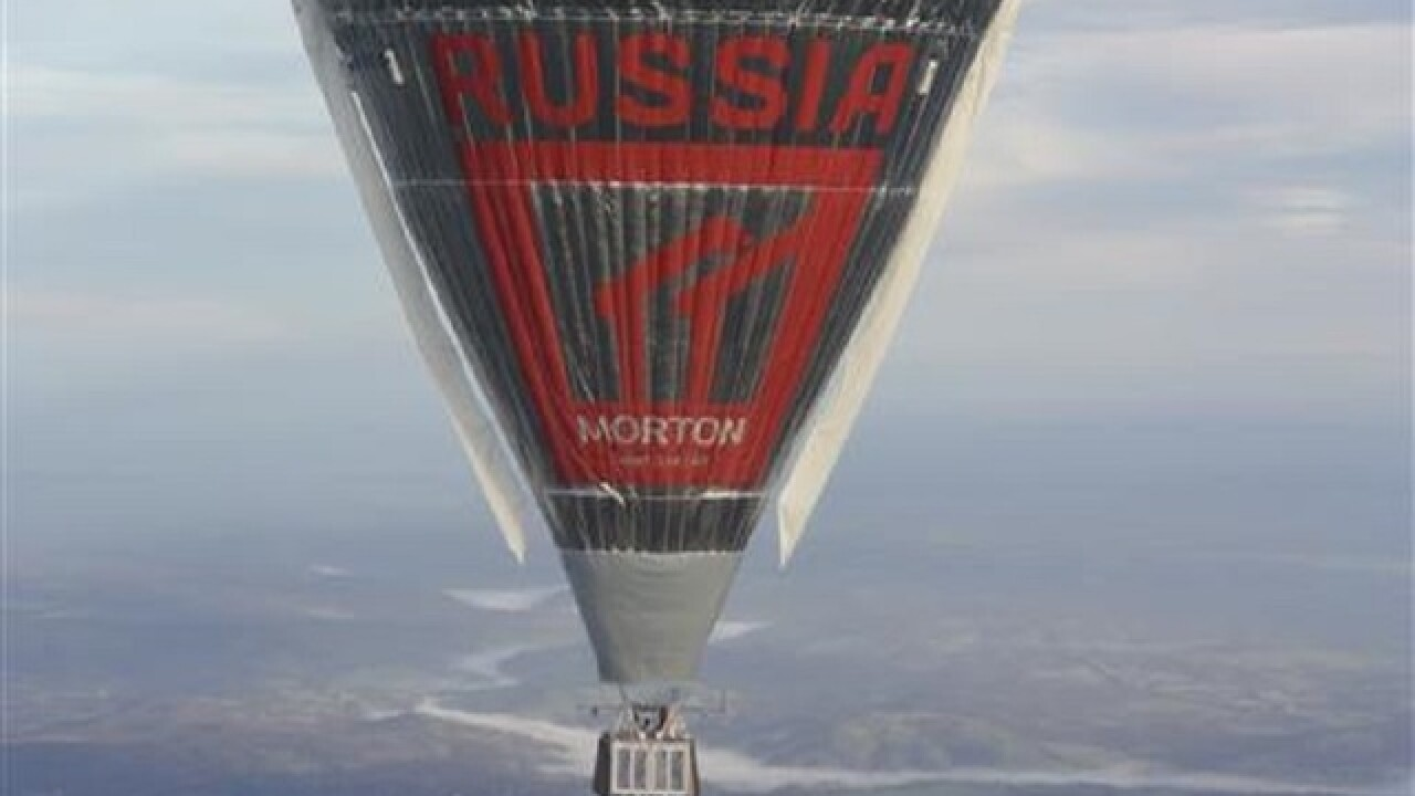 Russian balloonist hopes to circumnavigate globe on Saturday
