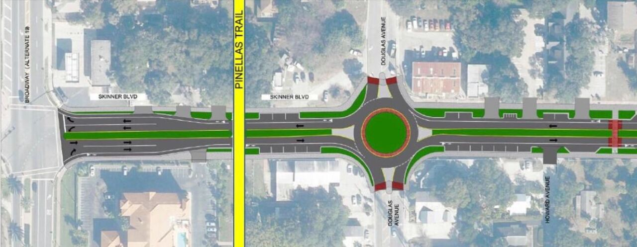 proposed roundabout
