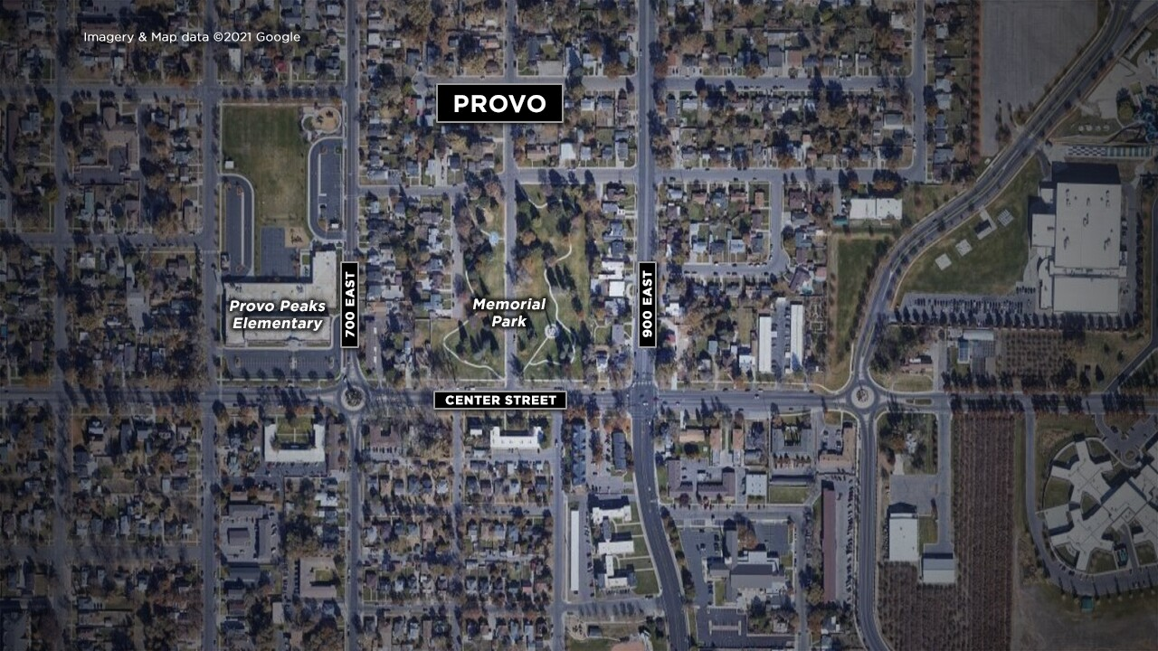 Provo officer shooting map