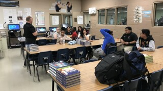 Students helping students in Mojave HS Sports Medicine Program