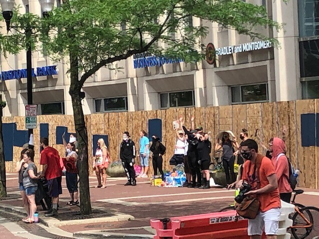 Downtown Indianapolis Protests