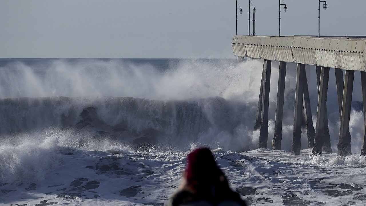 A storm brought some of the largest waves ever recorded off the California coast last week. One was 75-feet tall