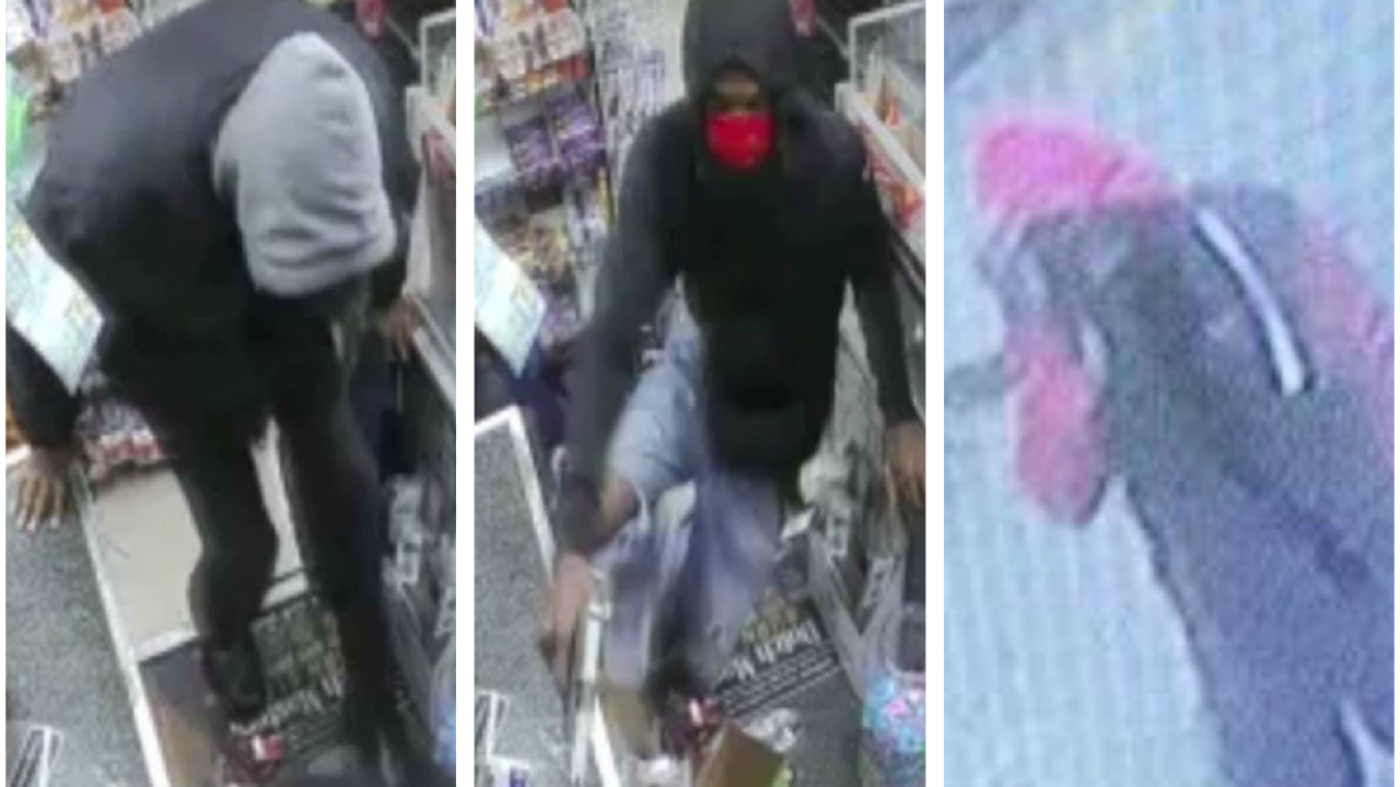 Surveillance video shows 3 masked men wanted in Richmond armed robbery