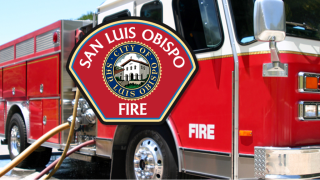 San Luis Obispo City Fire Department responds to reports of structure fire near LOVR