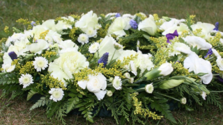 Flowers at funeral