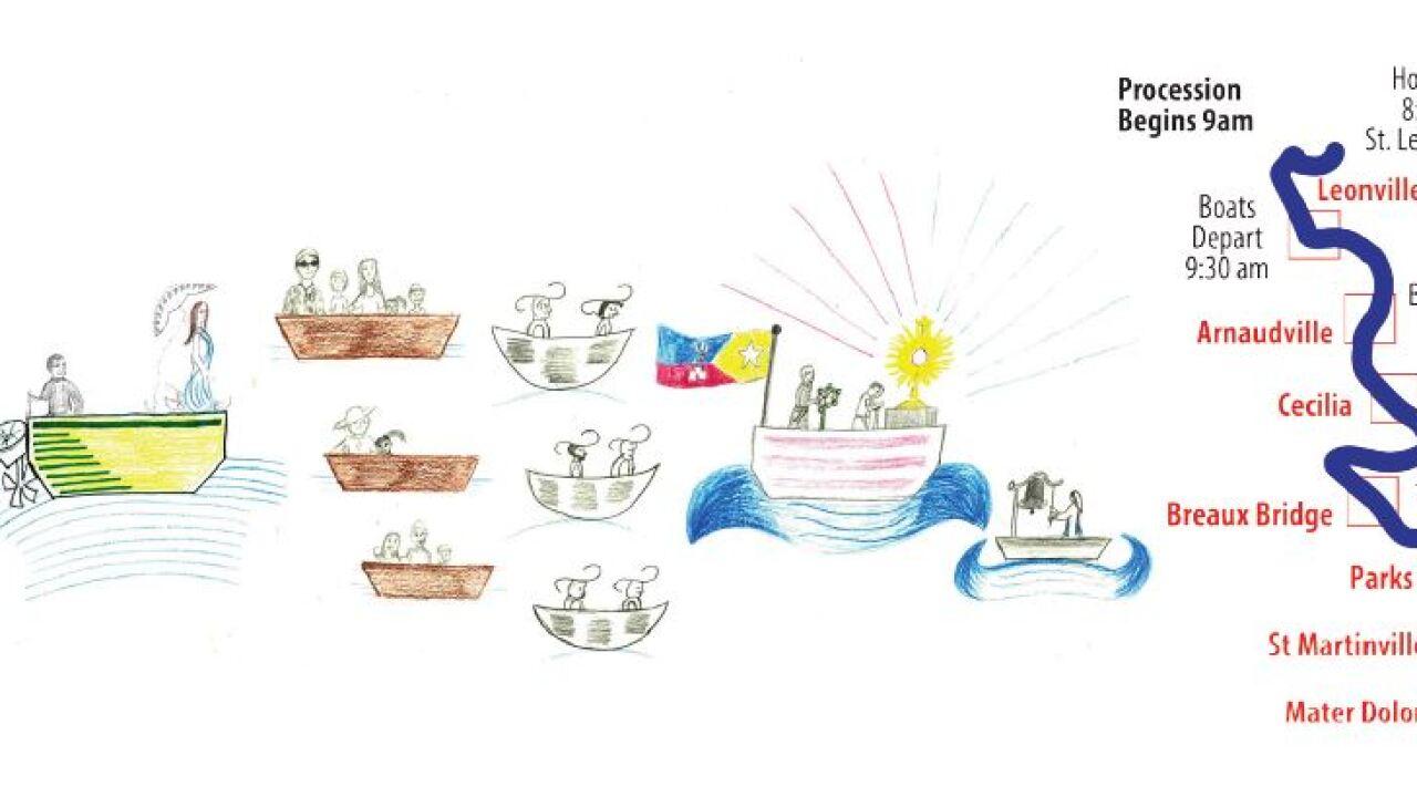 Fifth Annual Fête-Dieu du Teche 38-mile Eucharistic Boat Procession